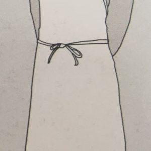 Delantal peto blanco sin bolsillo
