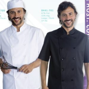 Chaqueta cocinero manga cort